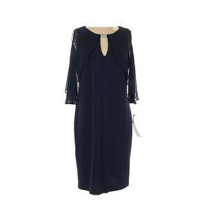 NWT RN Studio By Ronni Nicole navy blue dress 14